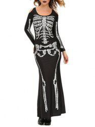 Halloween Adult Witch Costume Maxi Dress