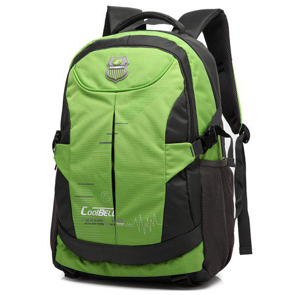 Online Nylon Color Spliced Zippers Backpack