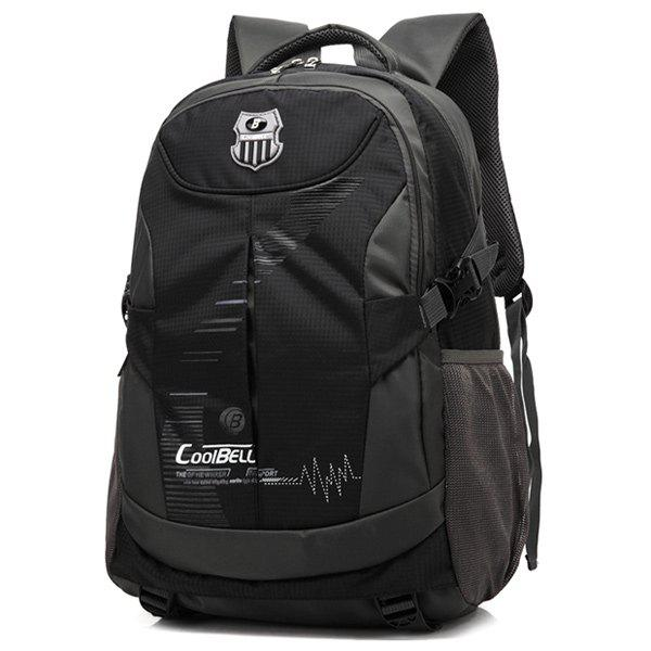 Buy Nylon Color Spliced Zippers Backpack