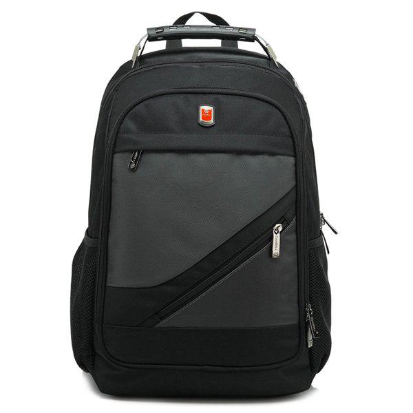 Metallic Nylon Zippers Backpack