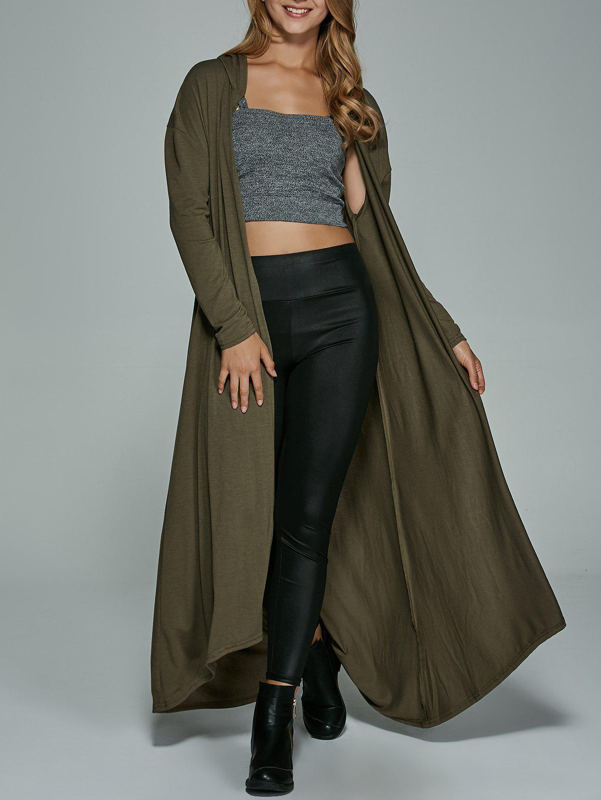 Outfits Hooded Longline Maxi Dust Coat