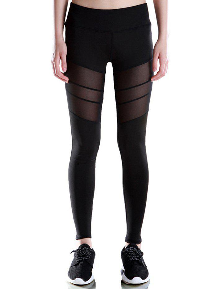 Fancy Voile Patched Stretchy Sport Leggings