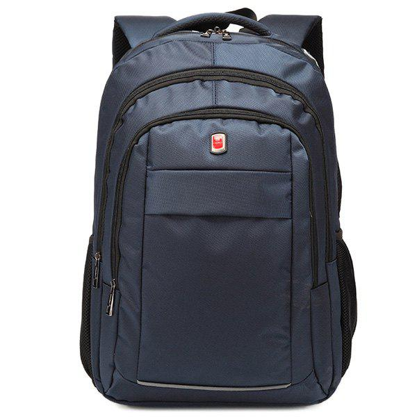 Shop Dark Colour Metal Zippers Backpack