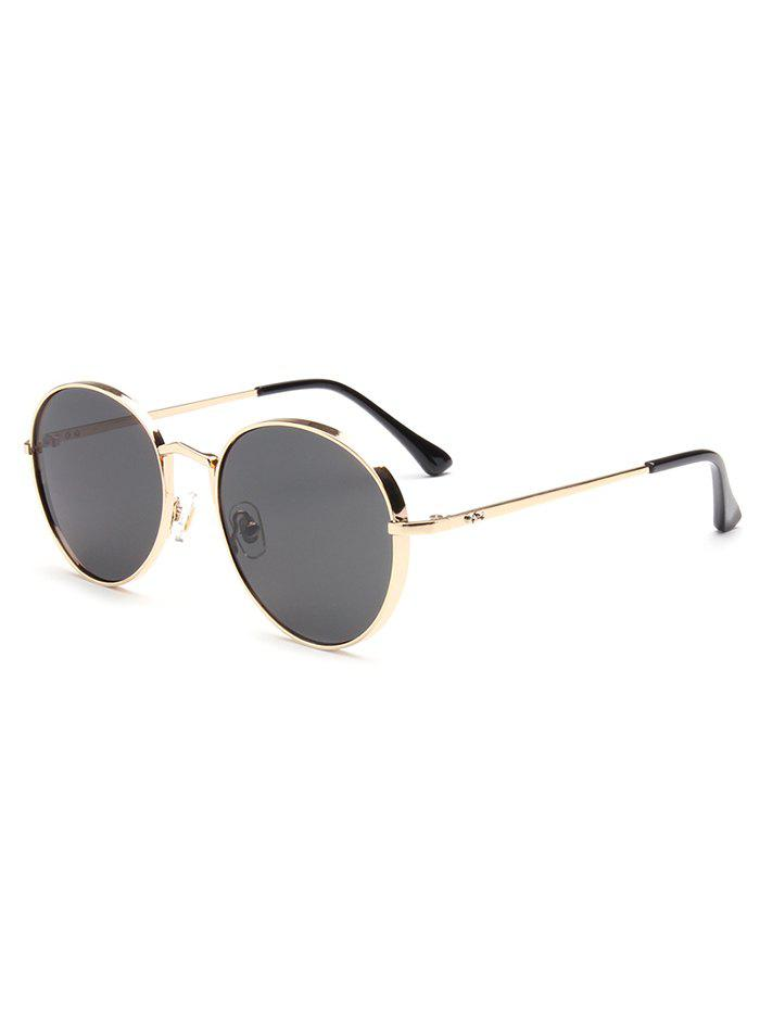 Best Hipsters Chunky Metal Oval Sunglasses