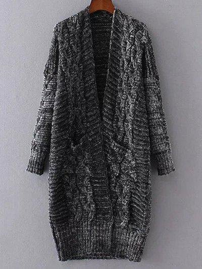 Best Open Front Cable Knit Oversized Cardigan