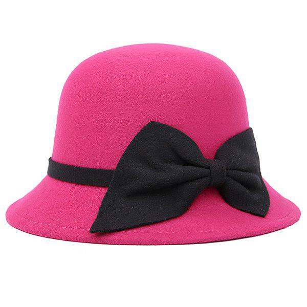 Shops Bowknot Strappy Dome Fedora Hat