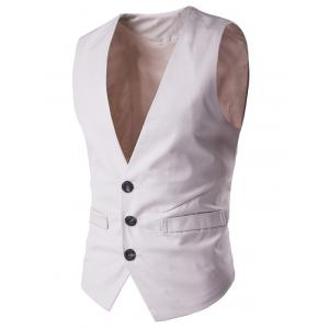 Buckle Back Mock Pocket Single Breasted Formal Waistcoat