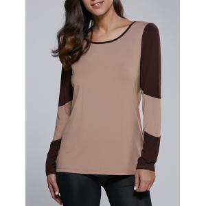 Long Sleeve Contrast Trim T-Shirt