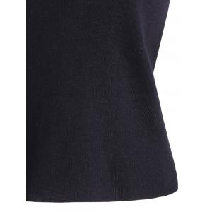 Skew Collar Slit Sleeve Slimming Knitwear -