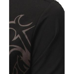 Tattoo Print Long Sleeve Shirt -
