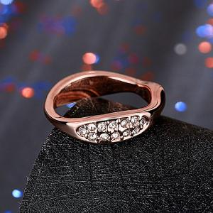 Natural Feature Oval Rhinestone Ring -