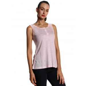 Soft Front Button Fit Tank Top -