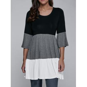 Flare Sleeve Loose Fit Blouse -