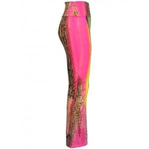 High Waist Multicolor Printed Pants -