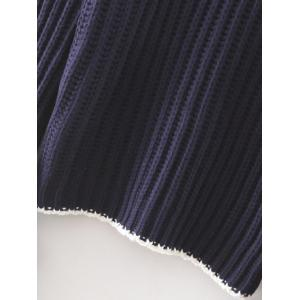 Mock Neck Flare Sleeve Knitted Sweater -