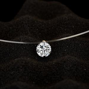 Solitaire Round Rhinestone Necklace -