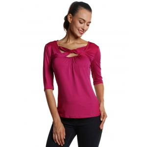 Fit Front Criss Cross Tee -