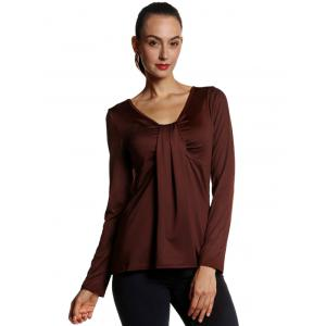 Ruched Long Sleeve Blouse -