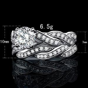 2 Pcs Twist Rhinestone Rings -