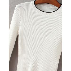 Round Collar Flare Sleeve Pullover Sweater -
