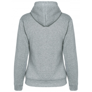 Drawstring Pocket Design Pullover Hoodie - GRAY XL