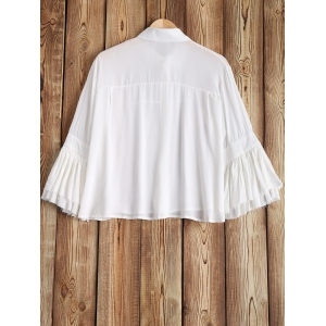 See-Through Flare Sleeve Shirt -