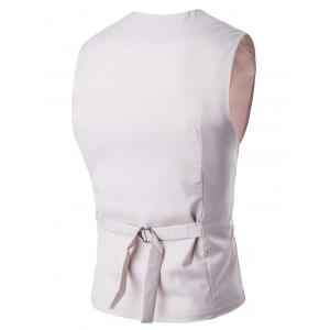 Buckle Back Mock Pocket Single Breasted Formal Waistcoat -