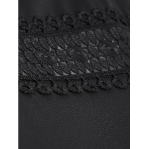 Lace Insert Openwork Blouse -