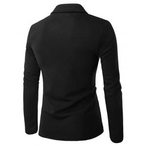 Patch Pocket Long Sleeve Single Breasted Jacket -