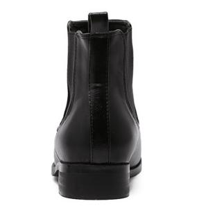 Elastic Band Spliced Low Heel Ankle Boots -