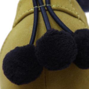 Ankle Strap Pompon Suede Pumps - BLUISH YELLOW 39