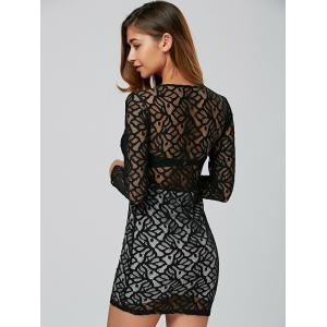 Tight Hollow Out Lace Club Short Fitted Dress -