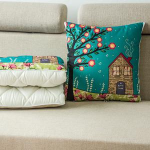 Two Uses Cartoon Office Cushion Pillow or Nap Quilt - COLORMIX