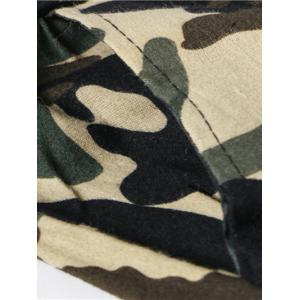 Camouflage Lace-Up Elasticity Jogger Pants -