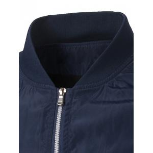 Polyester Rib Splicing Stand Collar Zip-Up Jacket -