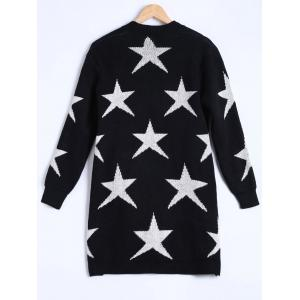 Star Jacquard Knitted Cardigan -