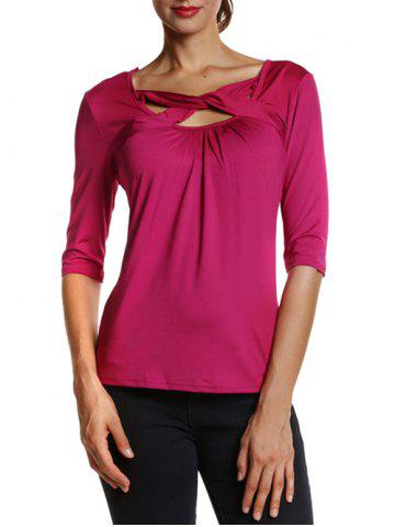 Fashion Fit Front Criss Cross Tee