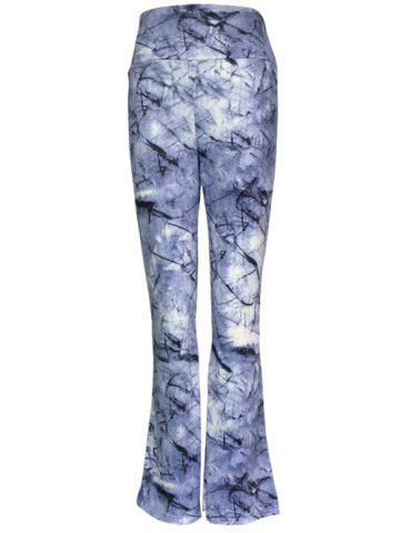 Fancy High Waist Ink Painting Slimming Pants