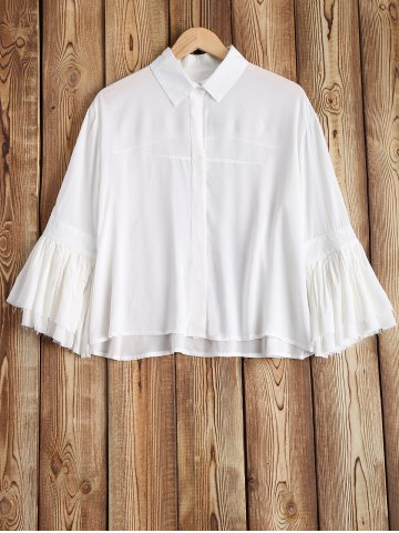 Fancy See-Through Flare Sleeve Shirt