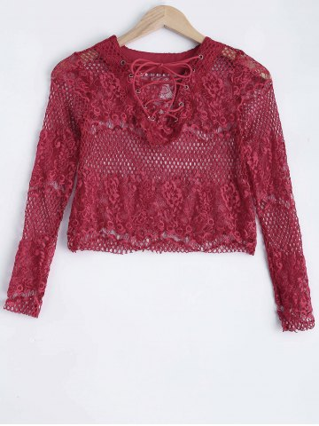 Latest Openwork Lace Blouse