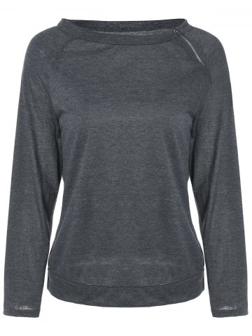 Outfit Zip Neck Raglan Sleeve Sweatshirt