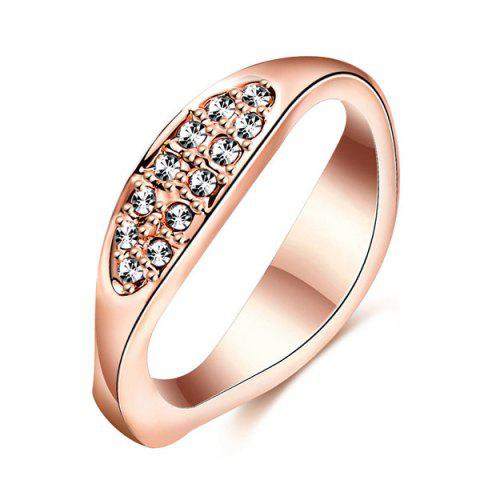 Shops Natural Feature Oval Rhinestone Ring