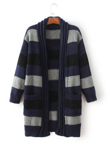 Hot Striped Open Front Cardigan