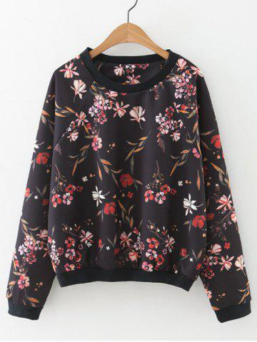 Outfit Floral Loose-Fitting Pullover Sweatshirt