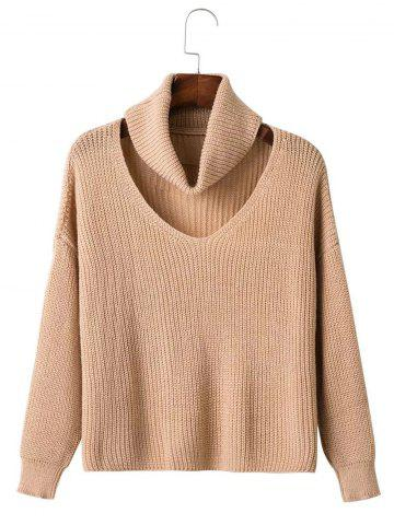Latest Cut Out Neck Drop Shoulder Pullover Sweater