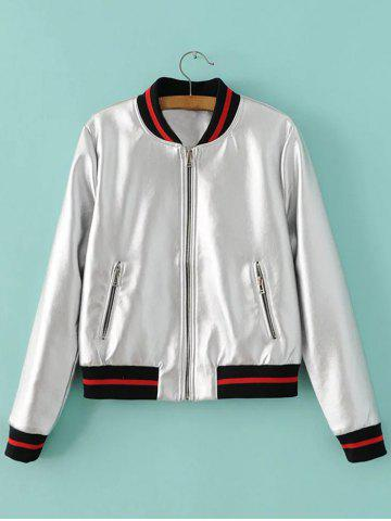 Shop Zipper Pockets PU Jacket