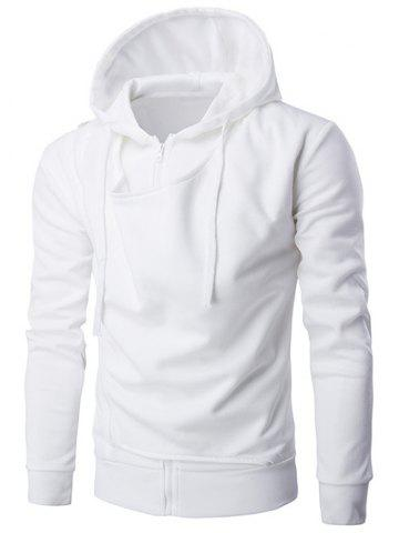 Affordable Hooded Double Zipper Design Hoodie