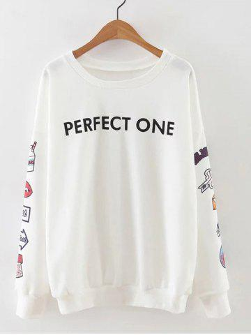 Fashion Drop Shoulder Funny Graphic Sweatshirt