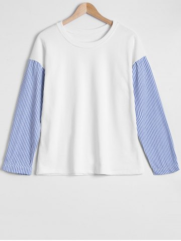 Hot Spliced Stripe Sweatshirt