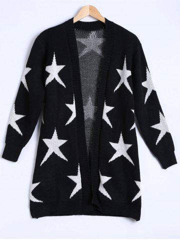 Store Star Jacquard Knitted Cardigan